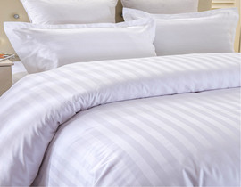 white 100% cotton hotel bedding set