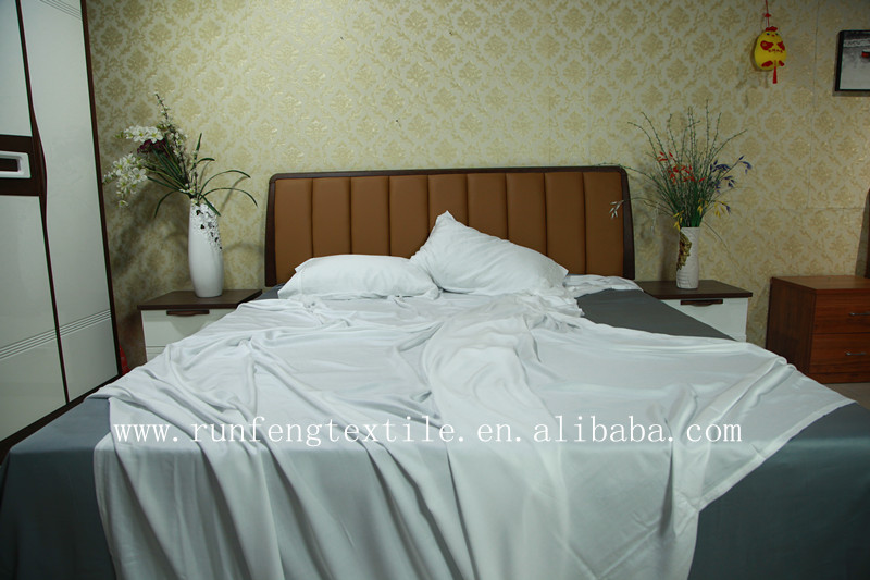 White 100% bamboo Lyocell bed sheets
